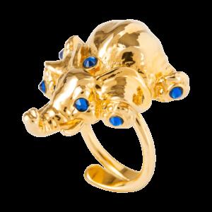 Eva Segoura - bijoux fantaisie animaux - bague éléphant or