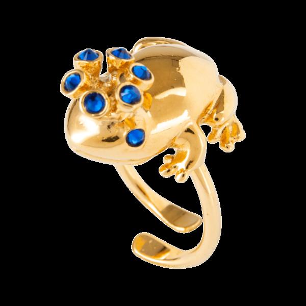 Eva Segoura - bijoux fantaisie animaux - bague grenouille or