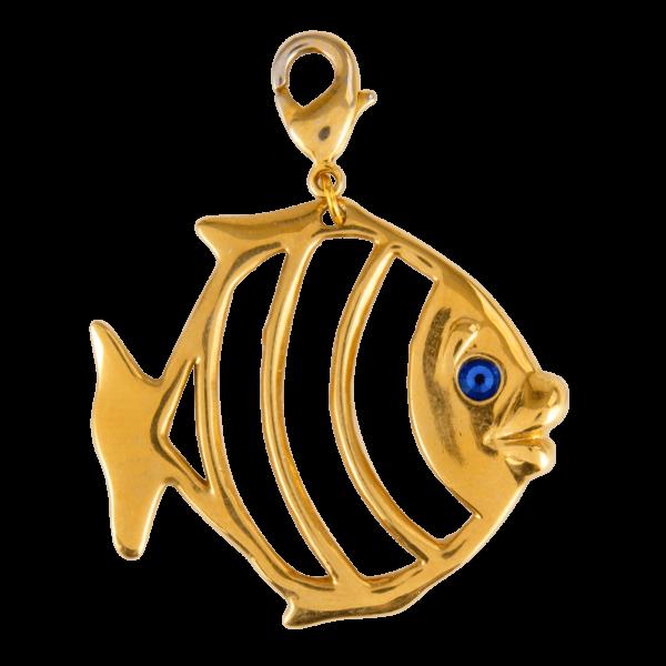Eva Segoura - bijoux fantaisie animaux - charms poisson or