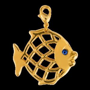 Eva Segoura - bijoux fantaisie animaux - charms poisson orx - charms poisson or