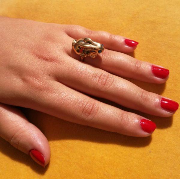 Eva Segoura - bijoux fantaisie animaux - bague lapin or