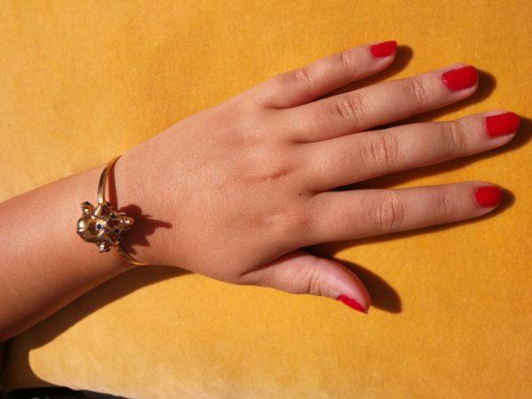 Eva Segoura - bijoux fantaisie animaux - bracelet éléphant or
