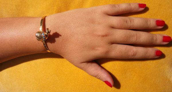 Eva Segoura - bijoux fantaisie animaux - bracelet escargot or