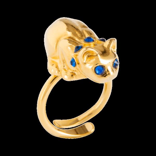 Eva Segoura - bijoux fantaisie animaux - bague chat or