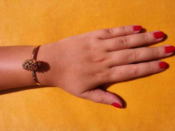 Eva Segoura - bijoux fantaisie animaux - bracelet hérisson or