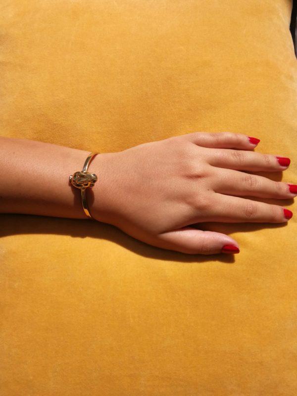 Eva Segoura - bijoux fantaisie animaux - bracelet lapin or