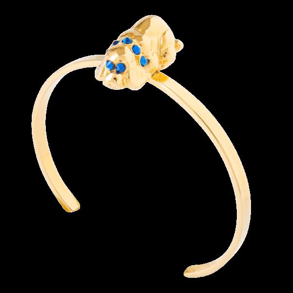 Eva Segoura - bijoux fantaisie animaux - bracelet chien or