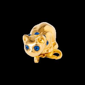 Eva Segoura - bijoux fantaisie animaux - charms chat or