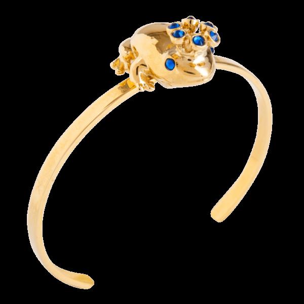 Eva Segoura - bijoux fantaisie animaux - bracelet grenouille or